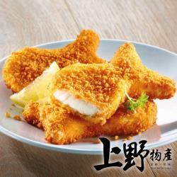 【上野物產】日式酥脆裹粉炸魚排 (100g±10%/片)x25片