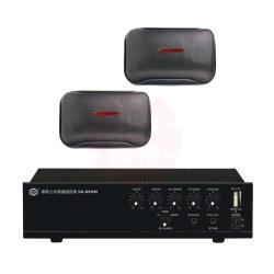 商業空間 SHOW SA-880M 擴大機+KARMEN V5 懸吊式喇叭X2支(黑)