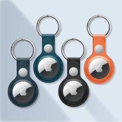 YULE生活 AirTag 皮革保護套 皮套鑰匙圈