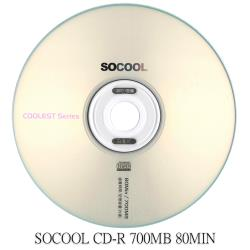 SOCOOL CD-R 80MIN 700MB 50片裝 可燒錄空白光碟