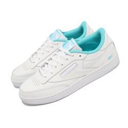 Reebok 休閒鞋 Club C 85 反光 運動 男女鞋 海外限定 基本款 簡約 舒適 情侶穿搭 白 藍 FV1096 [ACS 跨運動]