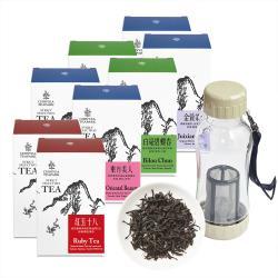 【沁意】台灣美人茶輕鬆泡9件特惠組! 人氣特色茶4款各2盒+行動拍檔(370ml)