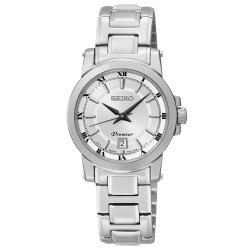 【SEIKO 精工】Premier 氣質石英女錶 不鏽鋼錶帶 銀面 防水100米 藍寶石水晶玻璃鏡面(SXDF41P1)