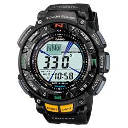 【CASIO 卡西歐】PROTREK登山錶 橡膠錶帶 防水100米(PRG-240-1DR)
