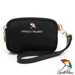 Arnold Palmer - 雙層零錢包附手挽帶 黑尼龍系列 - 黑色