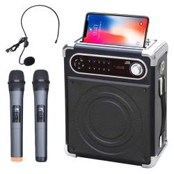 大聲公樂唱型無線式多功能行動音箱/喇叭(雙手持麥克風組)
