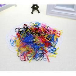 兒童髮束髮圈髮飾拉不斷橡皮筋200條入 140011【卡通小物】
