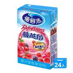 優鮮沛蔓越莓綜合果汁250ml x24入/箱【愛買】
