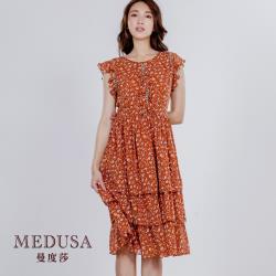 現貨【MEDUSA 曼度莎】小荷葉鄉村風碎花小洋裝(M-XL)