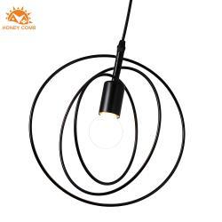 【Honey Comb】美式工業風三環旋轉餐廳單吊燈黑色 (KC2177)