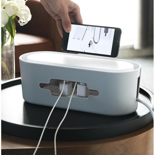 『環球嚴選』2入裝 創意家居收納用品 電線收納盒電源線整理線盒 集線盒 A0011