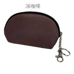 【Continuita 康緹尼】MIT 頭層牛皮零錢包/化妝包/印章包(咖啡色)