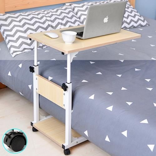 多功能高低床邊桌+移動輪