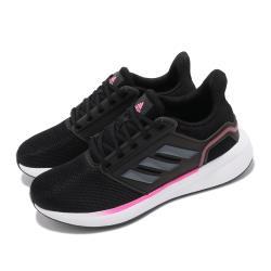 adidas 慢跑鞋 EQ19 Run 運動 女鞋 愛迪達 輕量 透氣 舒適 避震 路跑 黑 粉 H00933 [ACS 跨運動]
