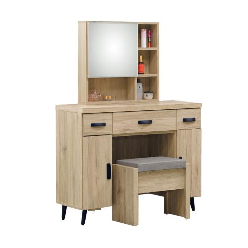 Boden-圖斯3.2尺化妝桌/鏡台/梳妝台(贈化妝椅)