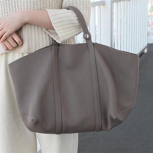 【米蘭精品】手提包真皮肩背包-牛皮大容量購物子母包4色74af40/