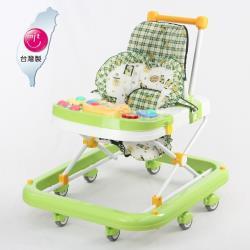 TAI TONG 成長型高背學步車(座位可調整)-嫩綠古早風