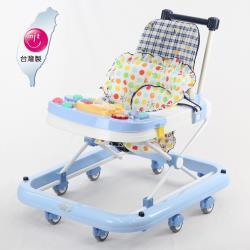 TAI TONG 成長型高背學步車(座位可調整)-藍色復古風