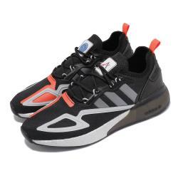 adidas 慢跑鞋 ZX 2K BOOST 運動 男女鞋 海外限定 愛迪達 緩震 NASA 太空 黑 銀 FY5724 [ACS 跨運動]