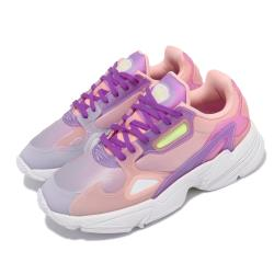 adidas 休閒鞋 Falcon W 老爹鞋 女鞋 海外限定 愛迪達 三葉草 穿搭推薦 粉 紫 FW2486 [ACS 跨運動]