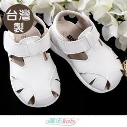 魔法Baby 手工寶寶鞋 台灣製專櫃款幼兒手工涼鞋~sk1179