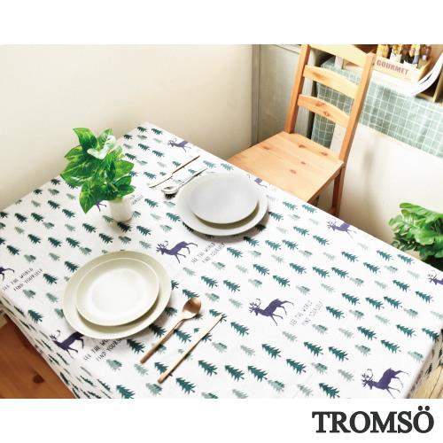 TROMSO風尚亞麻大桌布-麋鹿森林