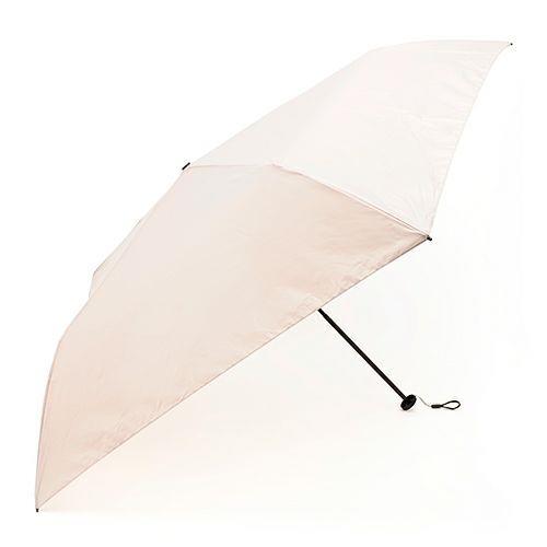 FIRANO 超輕量 抗UV 5骨摺疊晴雨傘(粉膚色)