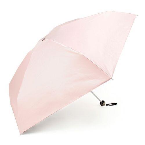 FIRANO 素面 抗UV 6骨摺疊晴雨傘(淺粉色)