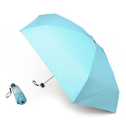 FIRANO 素面 抗UV 6骨摺疊晴雨傘(天空藍)