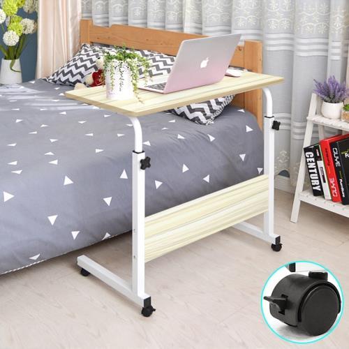 加寬80CM高低床邊桌+移動輪