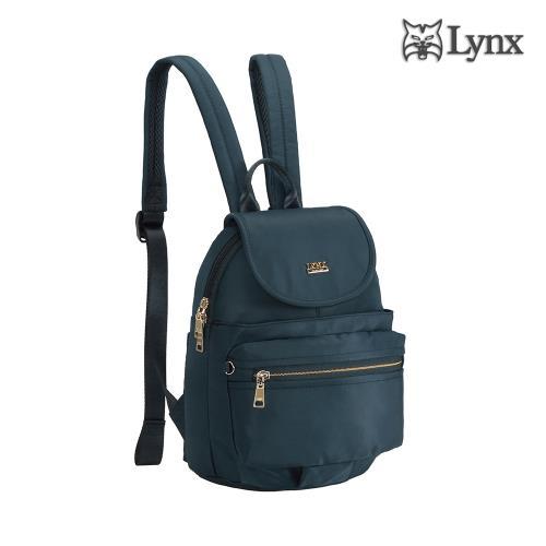 【Lynx】輕巧/多口袋/掀蓋設計後背包-深海藍