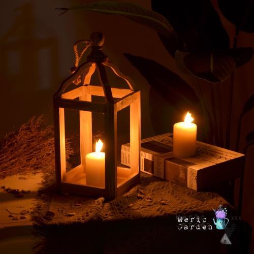 Meric Garden 北歐復古實木燭台/家居裝飾擺設