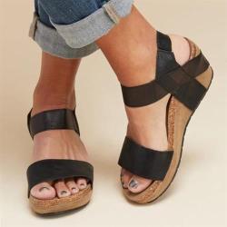 【Taroko】南洋風舒適坡跟厚底涼鞋(7色可選)