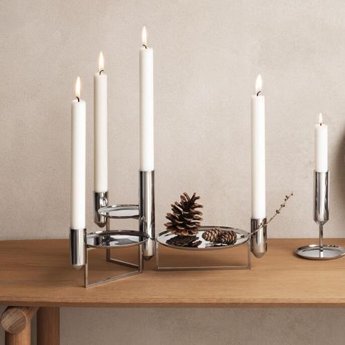 Georg Jensen 喬治傑生 TUNES 餐桌裝飾盤- 燭台與托盤(10013915)