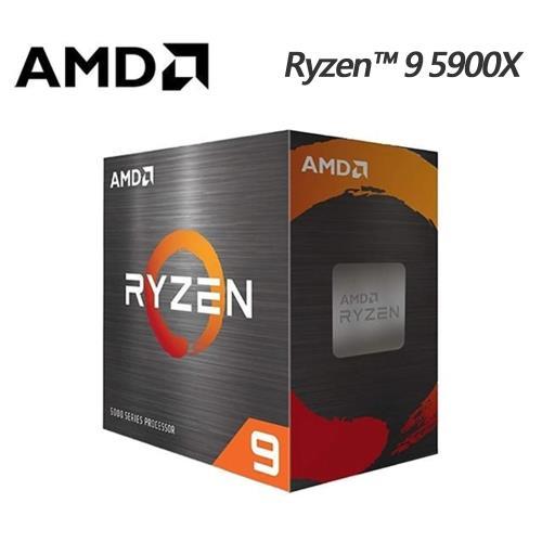AMD Ryzen R9-5900X 3.7GHz 12核心 中央處理器 (無風扇)