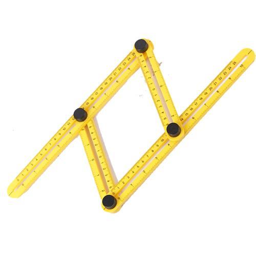 四折尺 塑膠尺 四邊折尺 多功能 活動 丈量 公英制量角器 量角尺 萬能角度規 萬能角度尺 裝潢木工