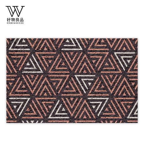 好物良品-40x60cm_迷宮三角-可剪裁玄關刮泥地墊(獨家設計) 刮泥墊 門墊 地毯