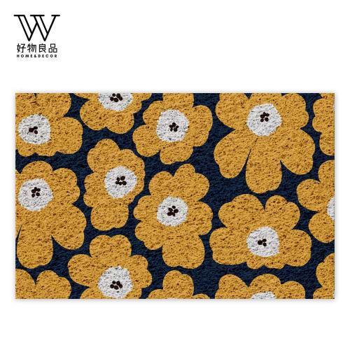 好物良品-40x60cm_黃色花語-可剪裁玄關刮泥地墊(獨家設計) 刮泥墊 門墊 地毯