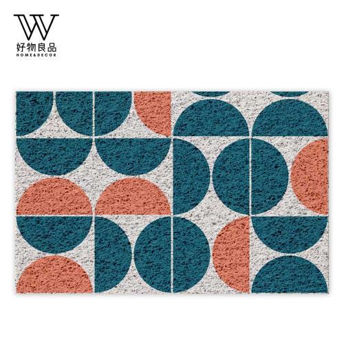 好物良品-40x60cm_圓弧幾何-可剪裁玄關刮泥地墊(獨家設計) 刮泥墊 門墊 地毯