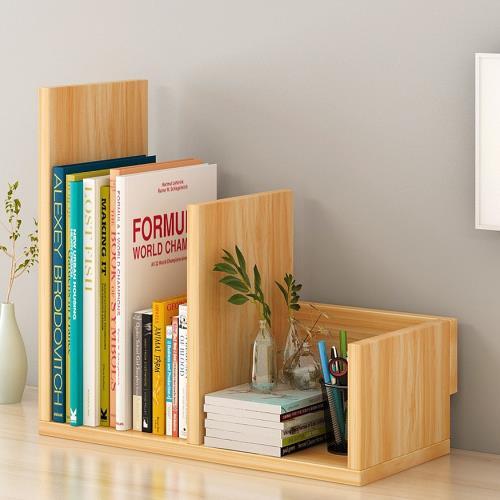 [生活藏室] 川字型桌上書架