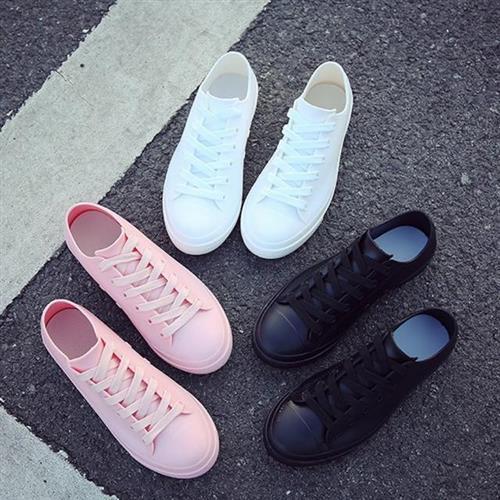 【Taroko】雨中漫步純色百搭防滑雨鞋(3色可選全尺碼)