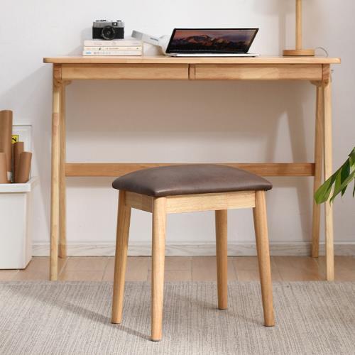 AOTTO 復古簡約全實木椅凳 化妝椅(椅凳 梳妝凳)