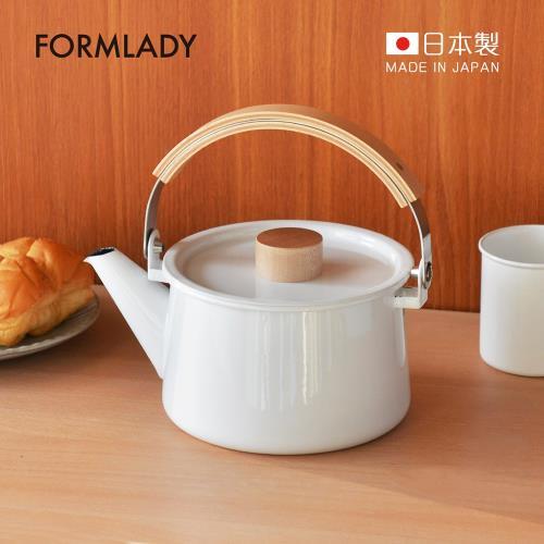 日本FORMLADY 小泉誠 kaico日製原木柄琺瑯茶壺-1.45L