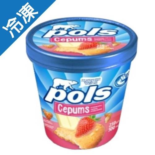 POLS草莓蛋糕白巧克力冰淇淋250G【愛買冷凍】/