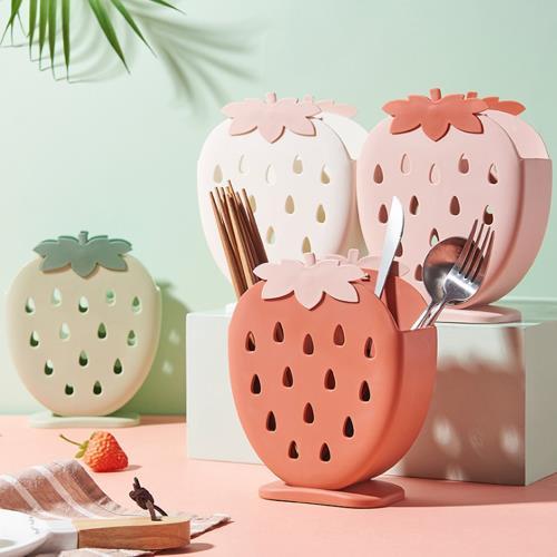 iRoom優倍適 草莓筷匙餐具收納架