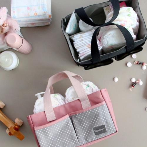 E.City_(2入)手提大容量多功能收納包媽咪包包中包