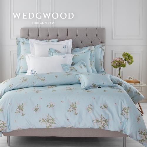 【WEDGWOOD】英倫野莓埃及棉印花四件式床組-雙人