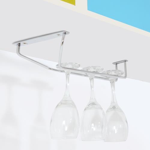 TKY 304不鏽鋼單排高腳杯架-寬口12cm/紅酒杯架/收納/廚房(14x31cm/台灣製造)
