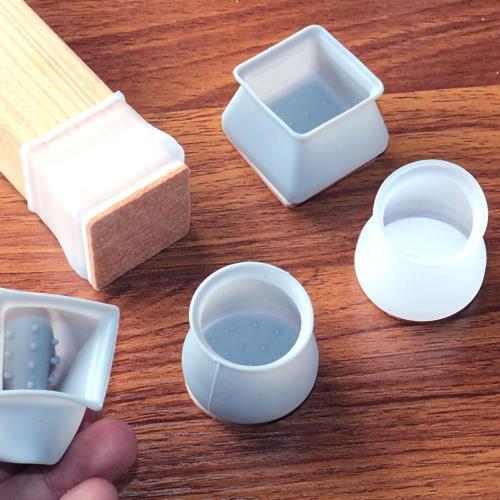 矽膠桌椅腳防滑靜音毛氈保護套(2組)