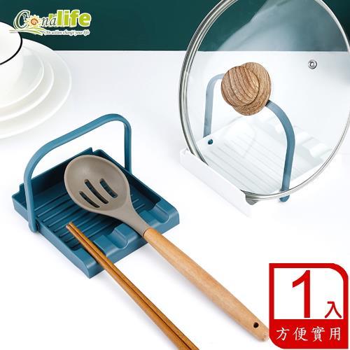 Conalife 廚房美學 四卡槽可懸掛鍋鏟湯勺架(1入)